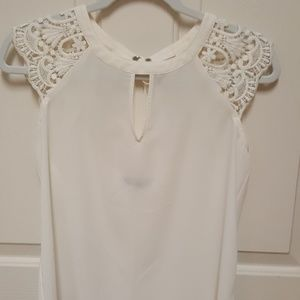 """Express"" lacey tie back blouse.  So cute!"